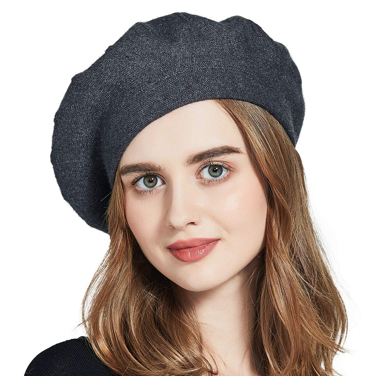 ENJOYFUR Berets for Women,French Style Solid Color Beret Hats,Lightweight Classic Wool Beret for Women,Stretchable Artist Hat