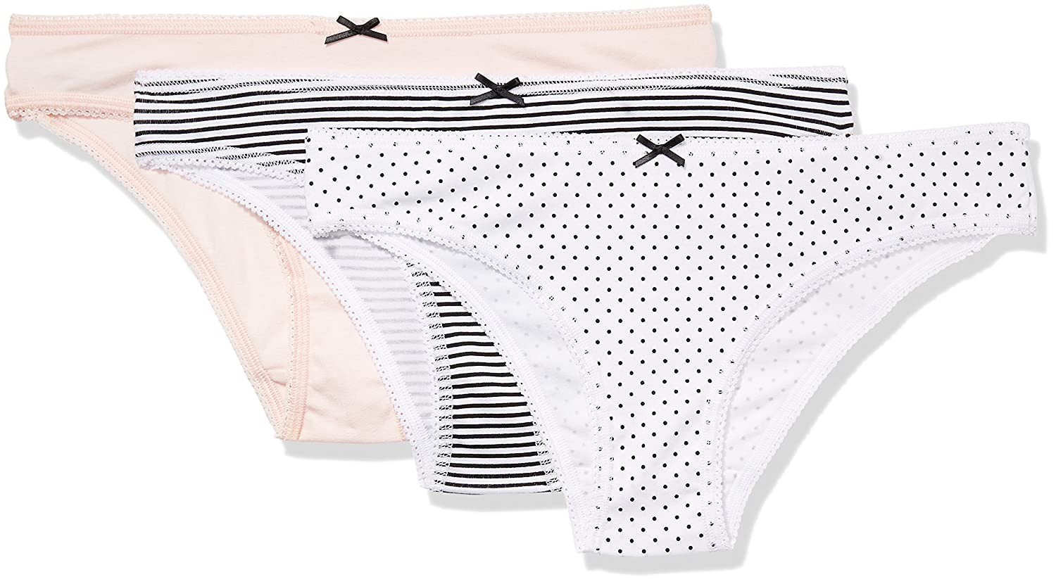 420c28e29 Amazon.com  Amazon Brand - Iris   Lilly Women s Cotton Brazilian Underwear  with Bow
