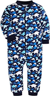 1e23491b83cd Amazon.com  Baby Boys Girls Footed Pajama - 100% Cotton Zip Front ...