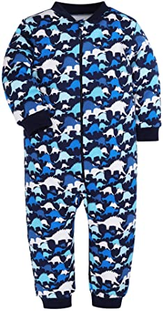 79f03bd71 Amazon.com  HONGLIN Footed Pajamas Baby Boys Girls Sleeper Long ...
