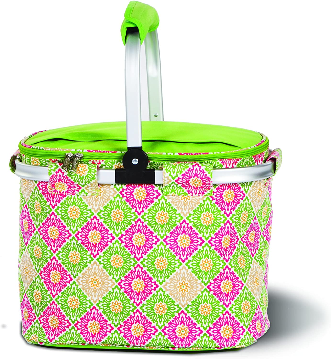 Amazon Com Picnic Plus Shelby Collapsible Thermal Foil Insulated Market Cooler Tote Garden Outdoor