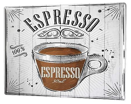 Cartel Letrero de Chapa Coffee Cafe Bar ESpresso: Amazon.es ...