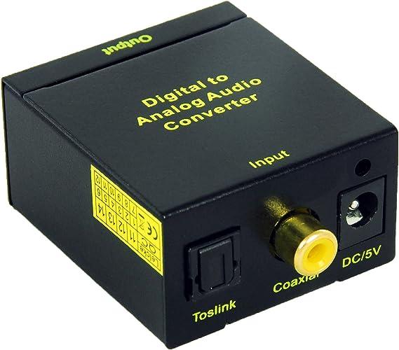 KanaaN - Conversor de audio digital (Toslink y Koaxial) a analógico (Cinch) || KanaaN Audio Converter: Amazon.es: Electrónica