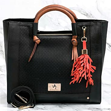 VÉLEZ 20666 Women Leather Business Briefcase | Maletín De Cuero Mujer Black