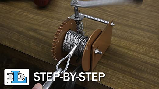 Worm Gear Winch with Split Reel Load Capacity WG1500SR 1500 lb Goldenrod Dutton-Lainson Company