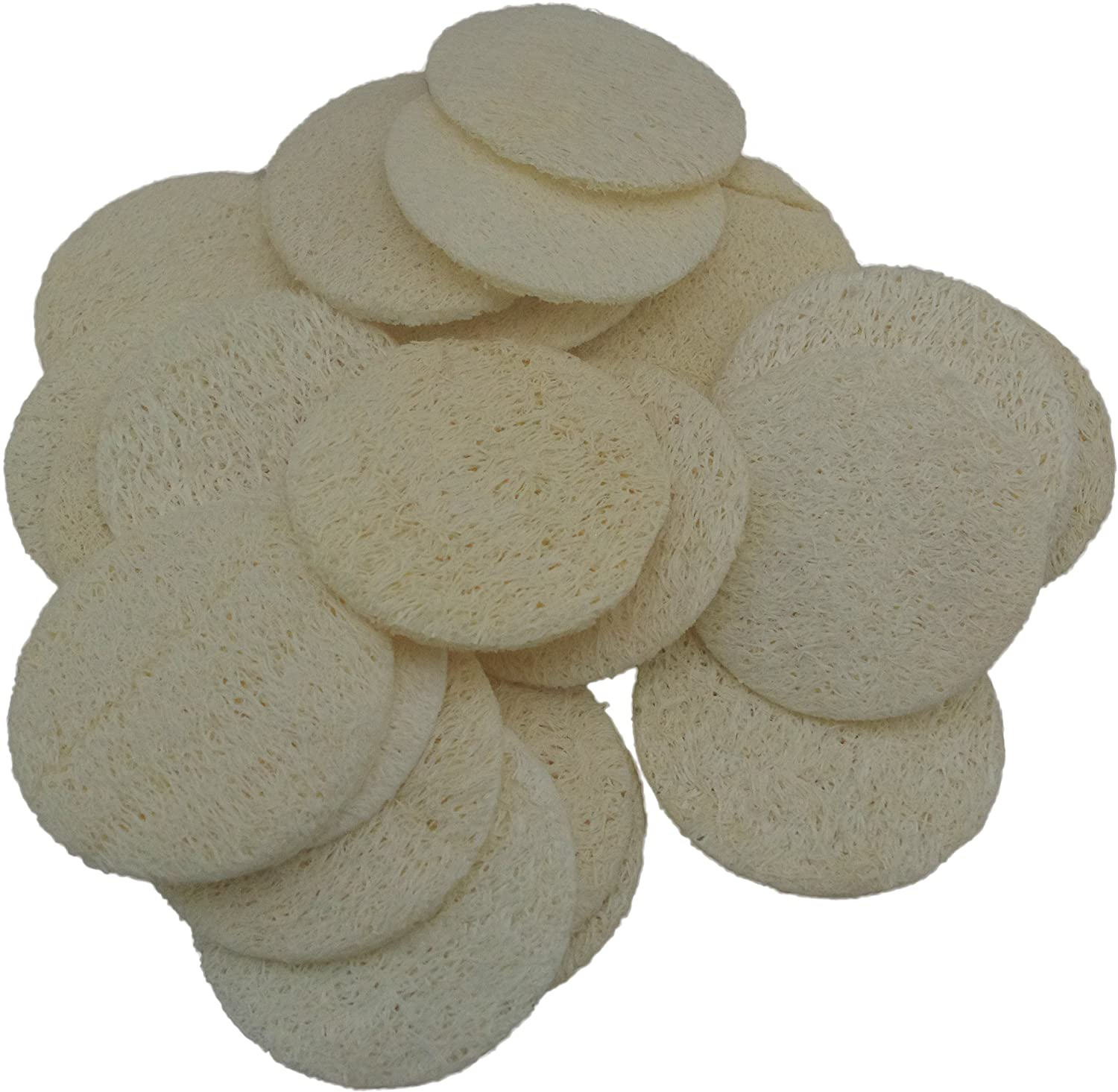 18 pcs/set Natural Exfoliating Face Pad Loofah Sponge Facial Brush - Shower Scrubber - Body Bath Spa For Men & Women - Renewable Resource - Pack of 18 Mr.Cui'shop