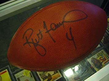 finest selection 181b7 90cd0 Brett Favre Autographed Football - Vikings Jets - JSA ...