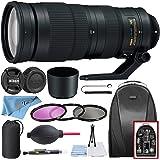 Nikon AF-S NIKKOR 200-500mm f/5.6E ED VR Lens with HB-71 Bayonet Lens Hood, Backpack, 3 Piece Filter (UV, CPL, FLD), Pouch, C