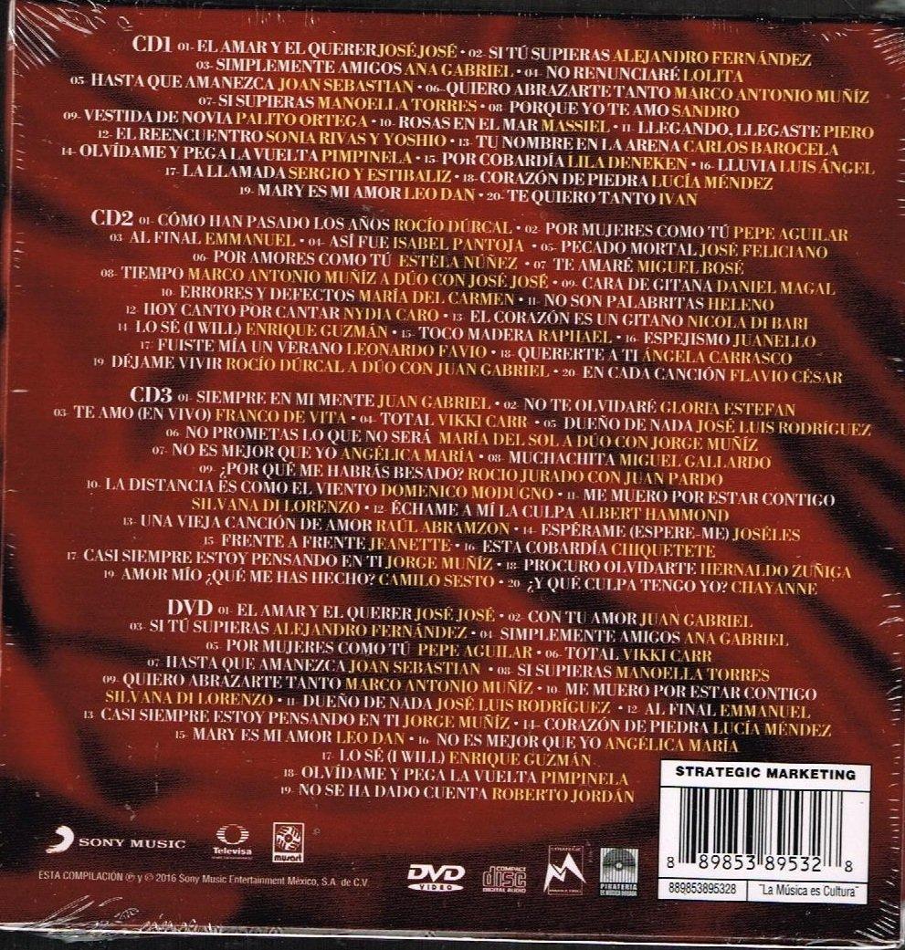 VARIOS ARTISTAS - LOS GRANDES ROMANTICOS DE LA BALADA [3 CDS + 1 DVD] ROCIO DURCAL, JUAN GABRIEL, JORGE MUNIZ Y MAS... - Amazon.com Music