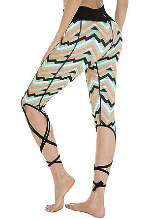 f198407fe3 QUEENIEKE Women's Bandage Skinny Sports Yoga Running Dance Cropped Pants  Size S Color Peak Wave
