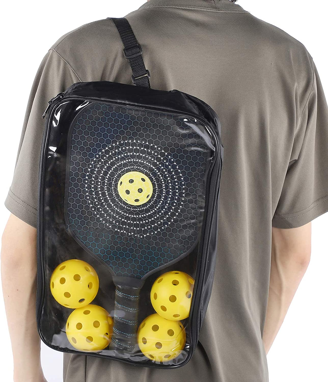 Keenso Pickleball Paddle 1 par port/átil Pickleball Paddle Racket Ball Training Sport Equipment para Interior y Exterior con 4 Pelotas