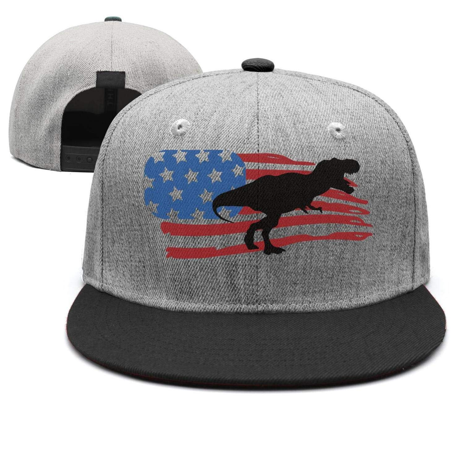 American Flag Dinosaur 4th of July/ Baseball Hat Fitted Unisex Pure Color Summer Sun Hat Dad Hat for Men Women One Size