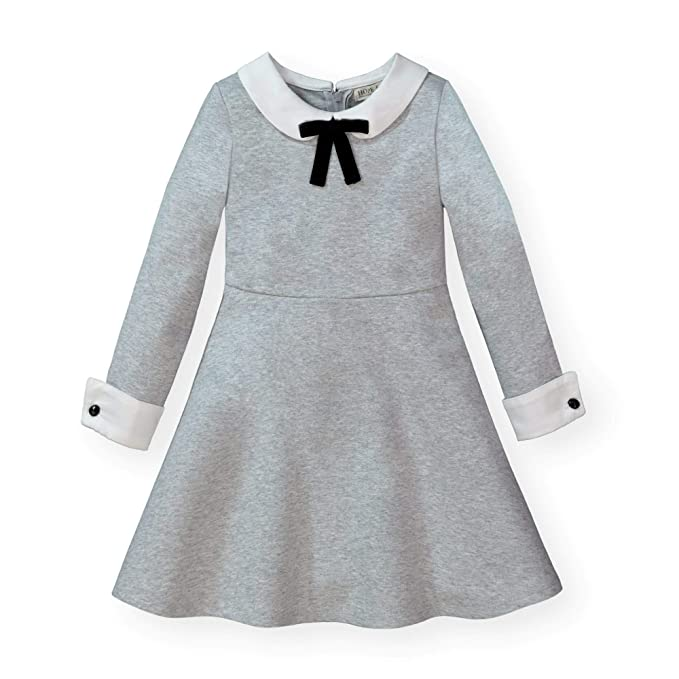 60s 70s Kids Costumes & Clothing Girls & Boys Hope & Henry Girls French Look Ponte Dress with Bow $29.95 AT vintagedancer.com