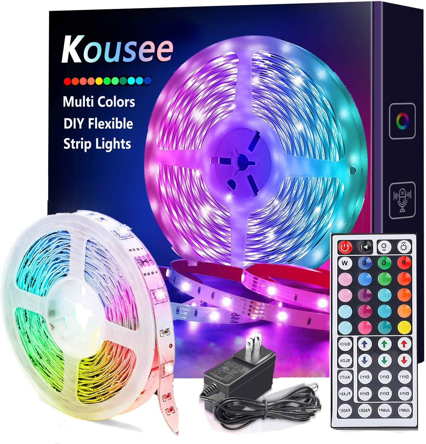 5m//16.4ft RGB Smart WIFI LED Strip Lights Dimmable Color APP Remote Control V7A5