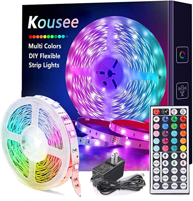 1M 30LED USB Powered 5V SMD 5050 Flexible TV Back Light with Remote Control for TV Background Lighting Home Decoration DIY Holiday Party Kitchen RGB LED Light Strip