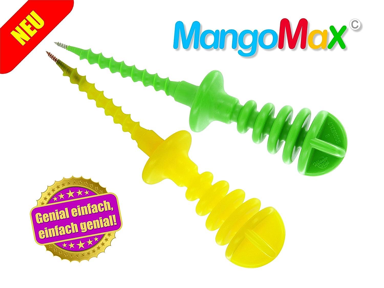 MangoMax mit Edelstahlspitze - Mangos schälen und schneiden mit ...