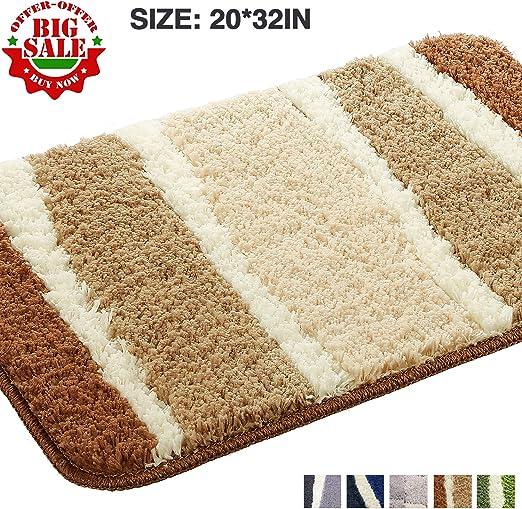 Luxury 2pc Loop Bath Sets Non slip Extra Absorbent Bath Mat /& Pedestal Mat Rugs