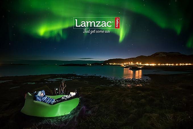 lamzac Fatboy 2.0 Sofá Inflable | Hawaii Brown | Sillón Hinchable con Relleno de Aire | Apto para Uso Exterior | 200 x 90 x 50 cm