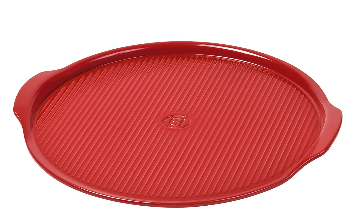 "Emile Henry Made In France Flame Pizza Stone, 14.6 x 14.6"", Burgundy"