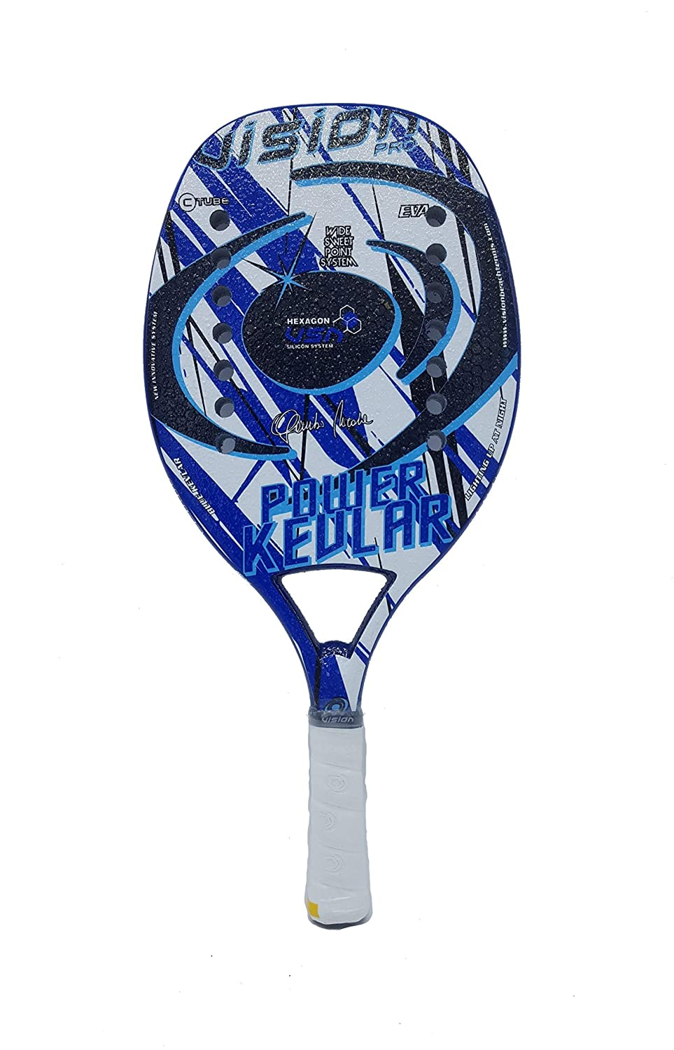 Vision Pala de Tenis Playa Power Kevlar 2019: Amazon.es: Deportes ...