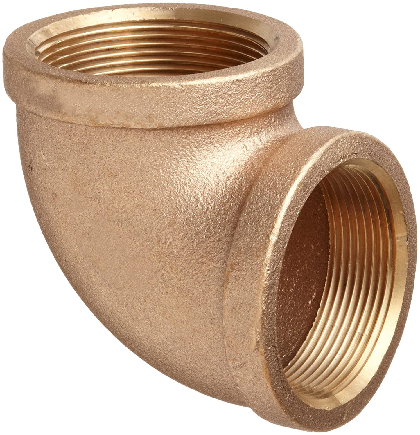 Class 125 1 x 3//4 NPT Female 90 Degree Reducing Elbow Brass Pipe Fitting