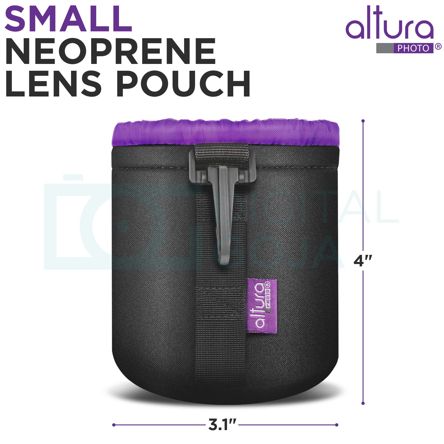 Neoprene Lens Pouch Canon EF 50mm f//1.8 STM Lens w//Essential Photo Bundle Altura Photo UV-CPL-ND4 Filter Kit Includes: Canon USA Warranty Camera Cleaning Set