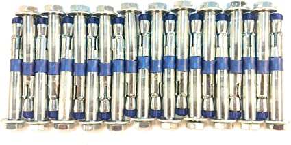 Fixe Powers Plated Steel 3//8 5 Piece Bolt
