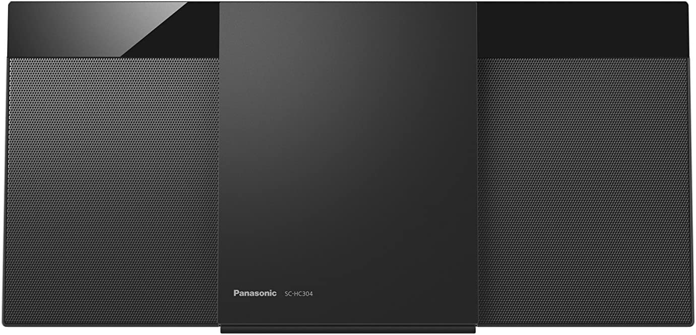 Panasonic SC-HC304 HiFi CD Player Negro - Unidad de CD (20 W, 8 cm, Dab+,FM, Interno, HiFi CD Player, Negro)