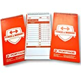 """Portage Fitness & Workout Notebook, 4""""X 8"""",70 Sheet (3 Pack) Strong Cover and Thick Backing For Rugged Gym Use and Writing While Standing, Increase Your Chances of Achieving Your Fitness Goals"""
