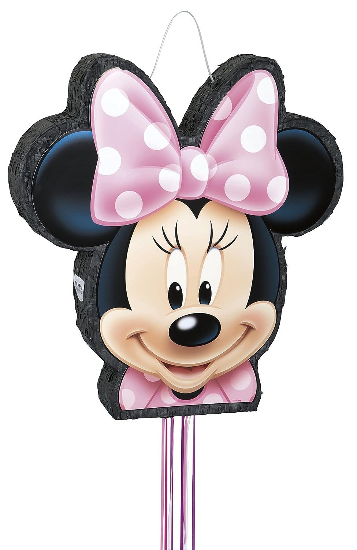 6e21640ad Disney - Piñata, diseño de Minnie Mouse, con cuerda: Amazon.es: Juguetes y  juegos