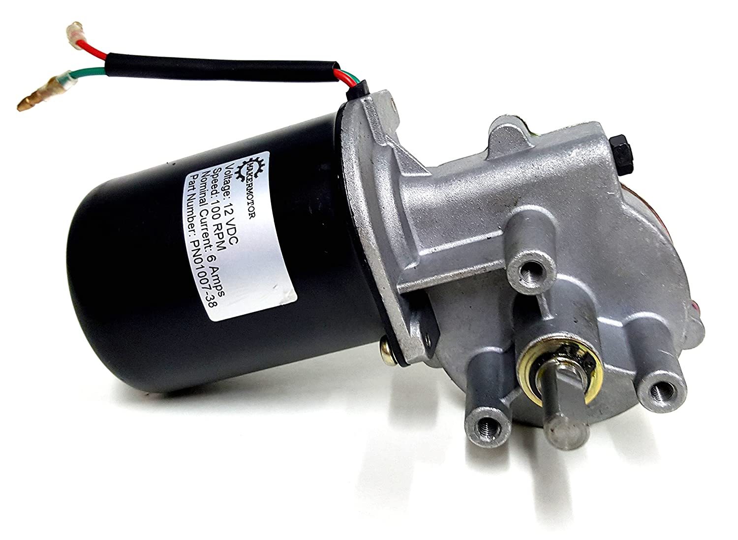 "Makermotor 3/8"" D Shaft 12V DC Reversible Electric Gear Motor 100 RPM: Industrial & Scientific"