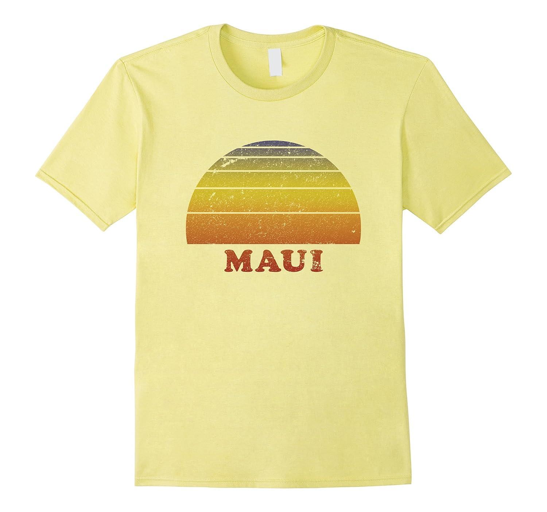 82285f674 Maui Retro Vintage T-Shirt 70s Throwback Surfer Tee-PL – Polozatee