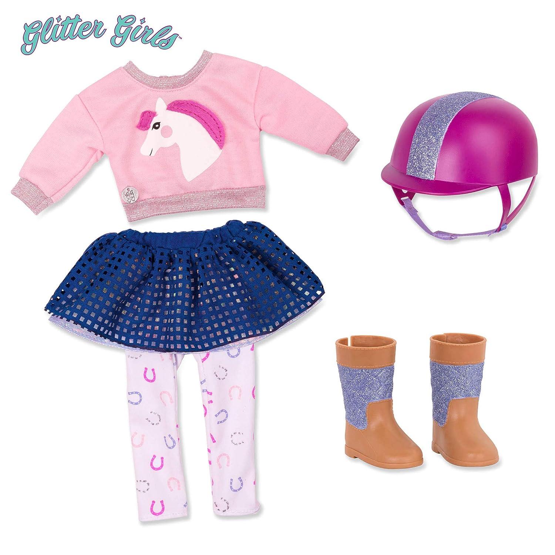 b0686dd4d4cf7 Amazon.com: Glitter Girls by Battat - Gallop & Glow! Outfit -14 ...