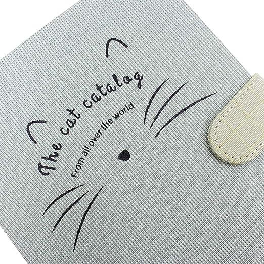 Amazon.com : Cute Cat Hard Cover Notebook Vintage Linen ...