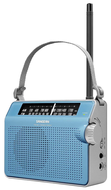 Amazon.com: Sangean PR-D6WH AM/FM Compact Analog Portable Radio ...