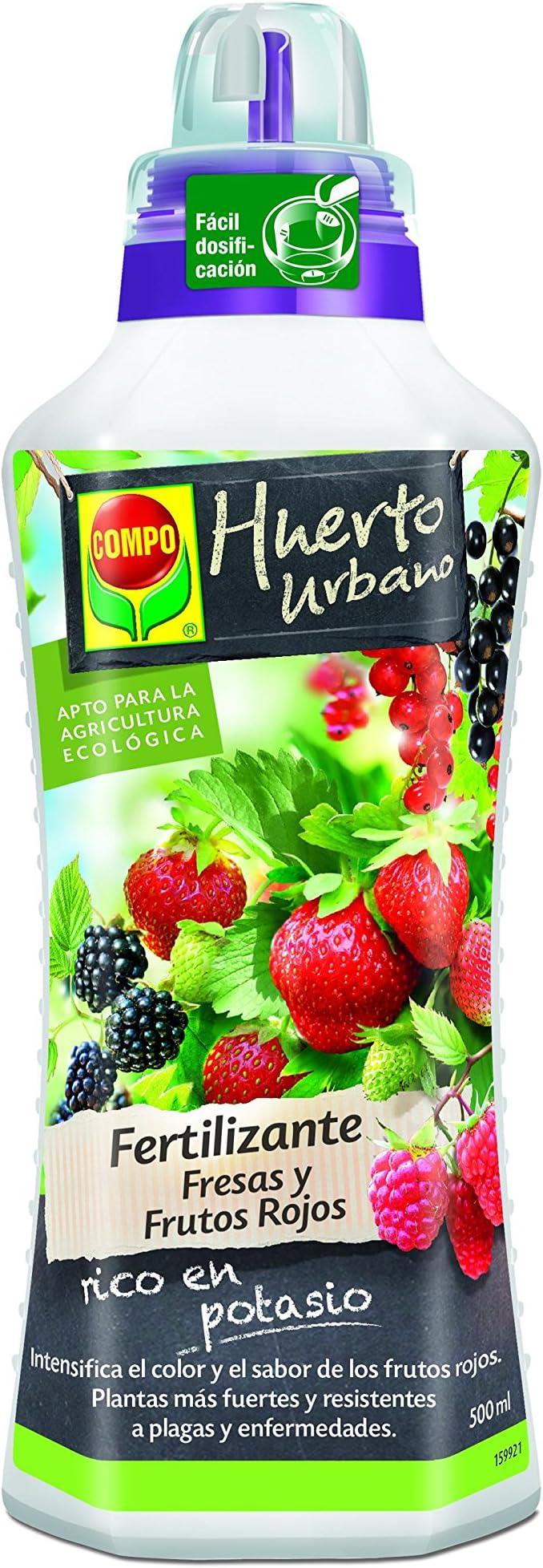 Compo Fresas y Frutos Rojos, Fertilizante líquido Natural, 500 ml ...