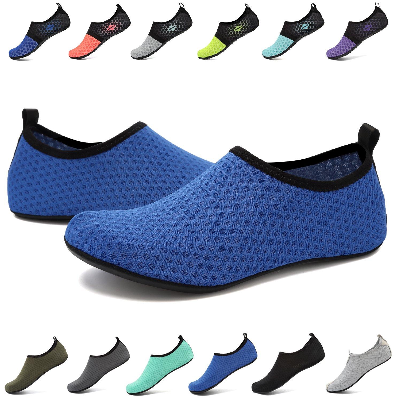 EASTSURE Snorkeling Shoes Water Sport Shoes Aqua Mesh Socks Men Women Beach Swim Surf Yoga Sapphire Blue 40-41