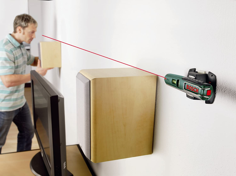 Bosch Laser Entfernungsmesser Hornbach : Bosch pll 5 laser wasserwaage wandhalterung m arbeitsbereich