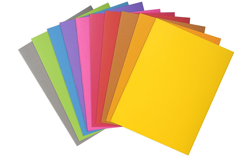"""Exacompta 800001E - Lote de 100 Subcarpetas Rock""""S 80, Colores Surtidos"""