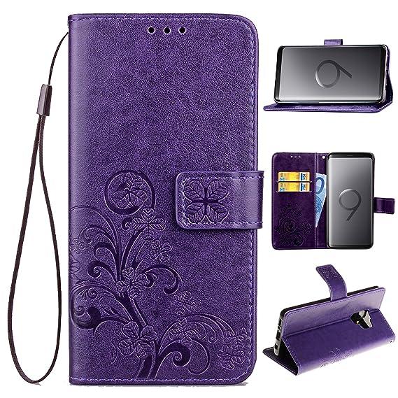 samsung s9 plus wallet case purple