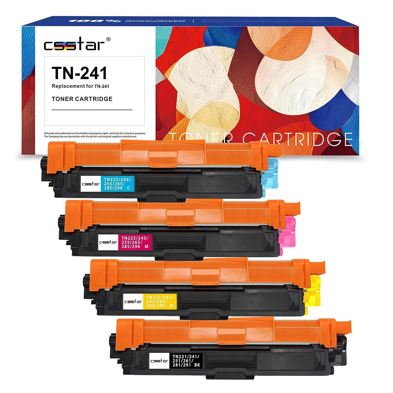 CSSTAR Compatible Cartuchos de Tóner Reemplazo para Brother TN241 ...