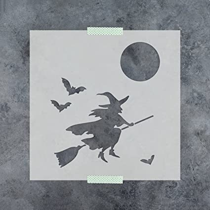 amazon com witch stencil template reusable stencil with multiple