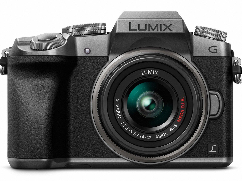 PANASONIC LUMIX G7 4K Mirrorless Camera, with 14-42mm MEGA O.I.S. Lens, 16 Megapixels, 3 Inch Touch LCD, DMC-G7KS (USA SILVER)