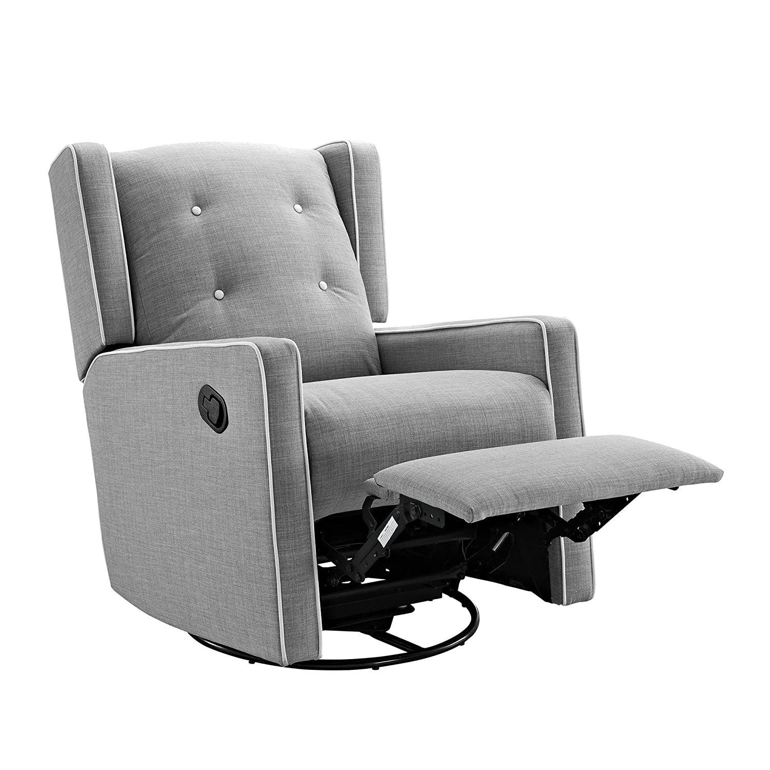 Amazon.com Baby Relax Mikayla Swivel Gliding Recliner Gray Linen Baby  sc 1 st  Amazon.com : upholstered glider recliner - islam-shia.org