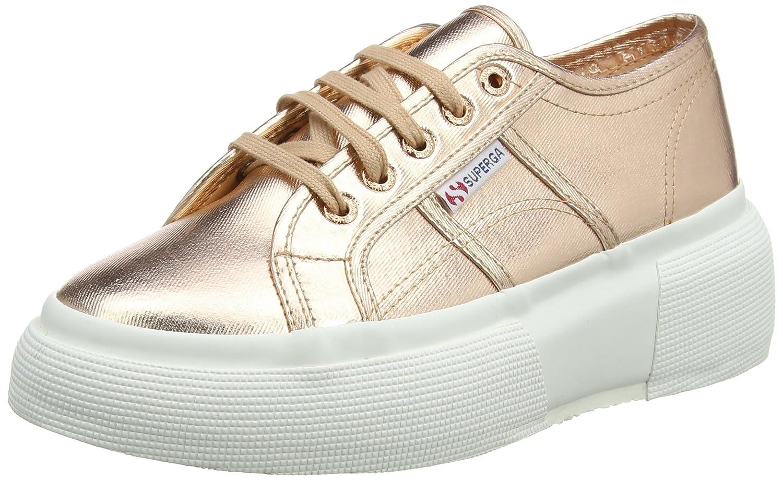 2287-Satinw, Sneaker Donna, White, 36 EU Superga