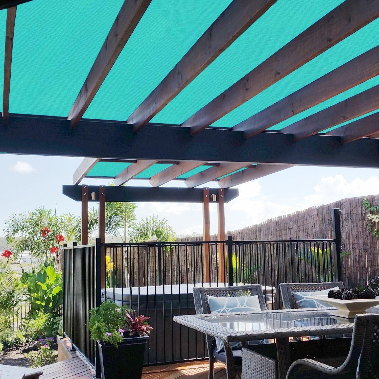 solgear 6 ft x 1 ft Shade Cloth Pergola Patio para proporcionar Shade rollo de tela de malla Protector de resistente permeable al proporcionar privacidad resistente a los rayos UV, color beige: