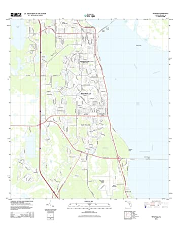 Titusville Florida Map.Amazon Com Topographic Map Poster Titusville Fl Tnm Geopdf 7 5x7