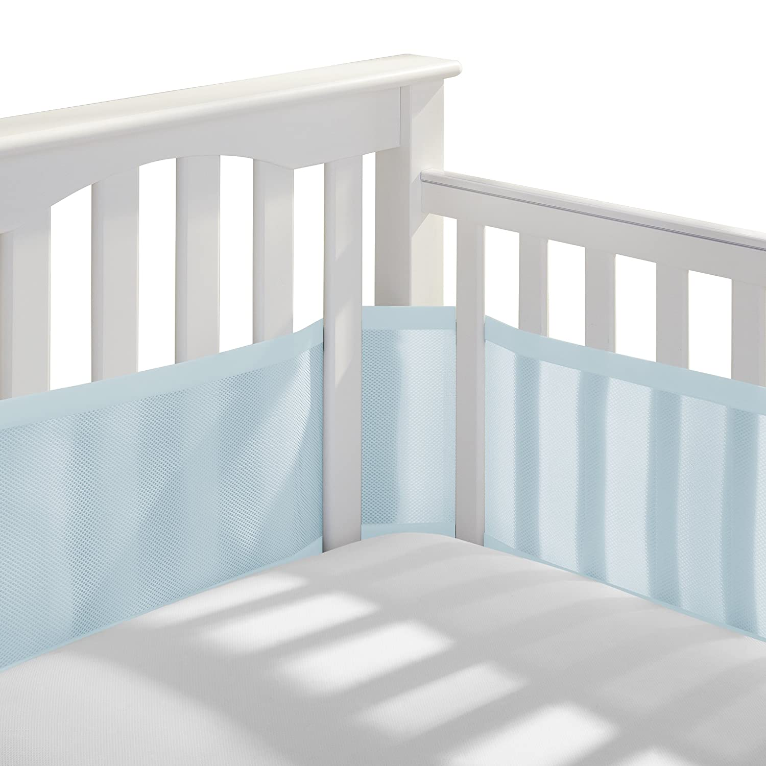 Amazoncom Breathablebaby Breathable Mesh Crib Liner, White (Mint Green) Baby