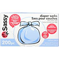 Deals on Sassy Baby Disposable Diaper Sacks, 200 Count