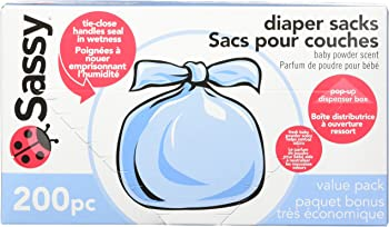 200 Count Sassy Baby Disposable Diaper Sacks